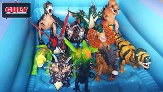 Hồ bơi khủng long bộ sưu tập của cu lỳ Dinosaur toy for kids collection