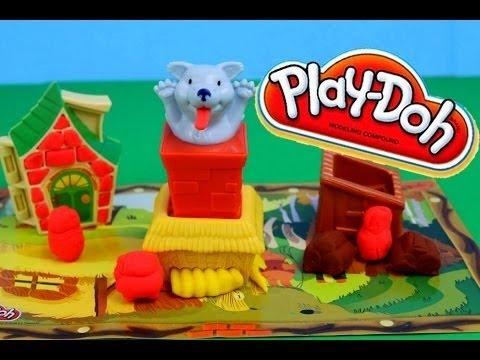 Play Doh Three Little Pigs and Big Bad Wolf Play-Doh Story Tellers DIY DisneyCarToys Play Dough