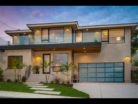 Contemporary beach home in san diego california youtube for California contemporary home plans