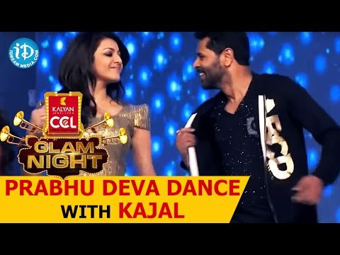 Prabhu Deva Dance With Kajal Aggarwal, Charmy, Genelia ccl Glam Nights video
