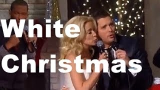 Michael Buble Video - Michael Bublé & Kellie Pickler -  White Christmas (lyrics)