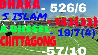 Download World Cricket Championship 2   (BPL) BENGLADESH T20 LEAGUE / (DHAKA v/s CHITTAGONG). Dhaka 526/6. 3Gp Mp4