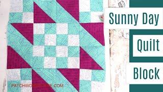 Sunny Day quilt block tutorial