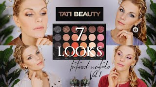 7 Looks | Tati Beauty Textured Neutrals Palette Tutorial and Review