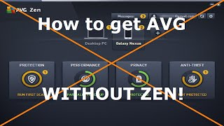 How to Install AVG with NO ZEN!