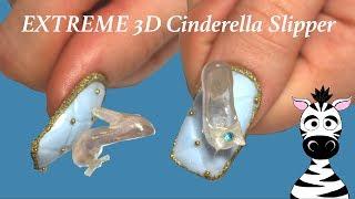 Extreme 3D Cinderella Slipper Acrylic Nail Art Tutorial | Banggood.com