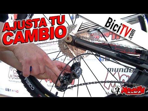 Como ajustar un cambio trasero de bicicleta