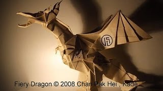 Origami Fiery Dragon 摺紙噴火龍 ( Kade Chan )