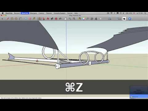 How to: Da Vinci flying machine SketchUp