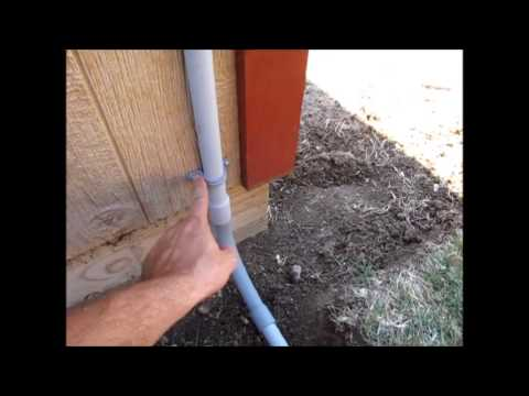 How To Install Pvc Conduit For Solar Youtube