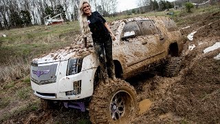 Lacey Blair Takes Her SEMA Escalade Mudding!!!!!!!!