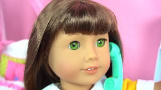 Morning Routine For My American Girl Doll   - Play AG Dolls Bedroom, Closet - Toys For Kids