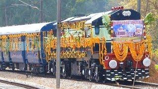 HYDERABAD TRI-WEEKLY EXPRESS INAUGURAL RUN : Indian Railways Decorated ALCo