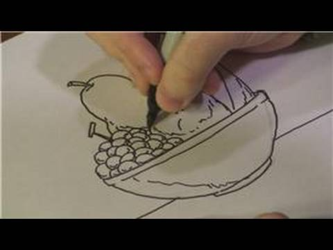 Drawing Lessons : How to Draw a Fruit Bowl