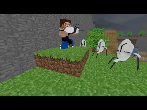 Minecraft Mod Review: Portal gun! (forge) (1.6.4) (iChunTools)