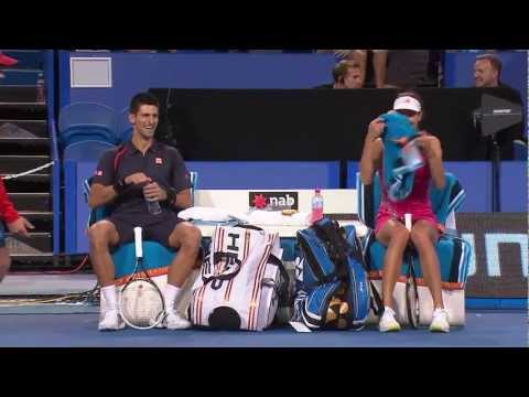 Novak Djokovic and Ana Ivanovic do Gangnam Style - Hyundai Hopman Cup 2013