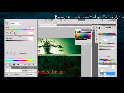 Basic Tutorial - Adobe PHOTOSHOP for Painting - Adjustments Panel 003