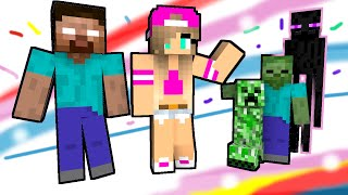 Monster School: The New Girl (Minecraft Animation)