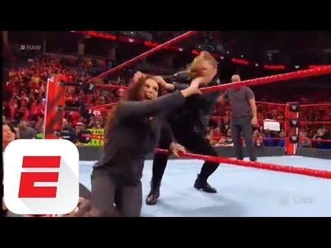 Ronda Rousey slams Stephanie McMahon at WWE Raw | ESPN thumbnail