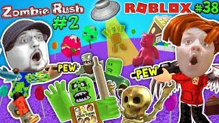 ROBLOX ZOMBIE RUSH #2! UFO Spaceship Friend & Candy Land! FGTEEV Rolling Pin! Gameplay Chase (#38)