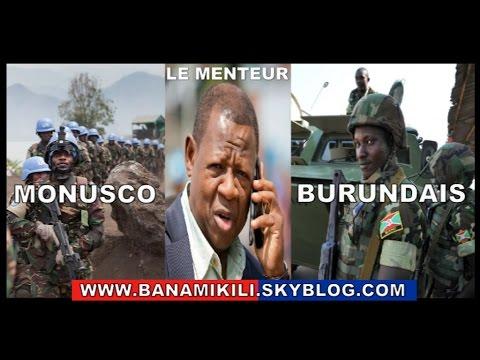 Après avoir nié l'ONU reconnait la présence des soldats Burundais au Kivu en mission de pillage