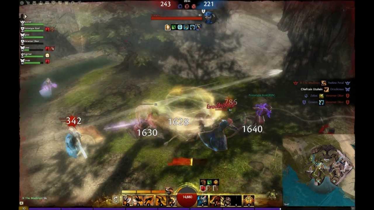 Guild Wars  Warrior Build Pvp Dps