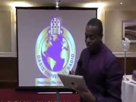 Pastor Emmanuel Sanyika -Speech - The Launch -Oasis Universal Radio Station