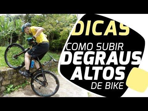 Como subir degraus altos de bike Pedaleria