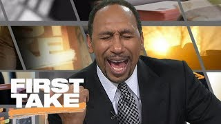 Stephen A. cannot stop laughing over Will Cain defending Cowboys   First Take   ESPN