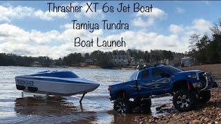 ***Thrasher Jet Boat Launch**Tamiya Toyota Tundra Highlift***Tybo's RC Motorsports** Pure RC 4x4