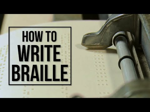 How Blind People Write Braille