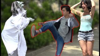 SCARY HALLOWEEN GHOST PRANK 👻 - AWESOME REACTIONS -  Best of Just For Laughs