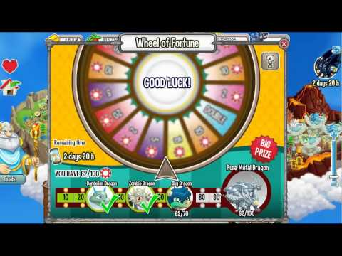 Watch Wheel Of Fortune (Pure Ice + Sky Dragon) [Dragon City]