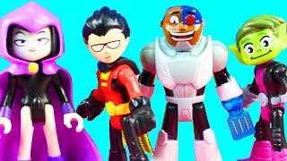 Imaginext Teen Titans Go! Robin Star Fire Raven Cyborg Beast Boy Batman Defend Teen Titans Tower