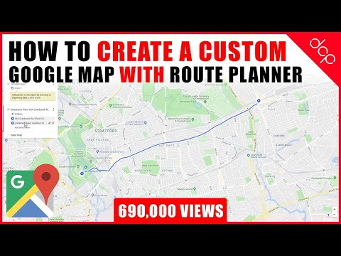 How to create a custom Google Map with Route Planner and Location Markers - [ Google Maps Tutorial ]