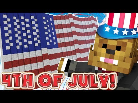 Minecraft America 4th Of July Lucky Block Mod - Trench Modded Minigame (BATTLEFIELD 1 MAP)
