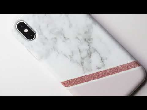 ZUSLAB iPhone X Case Noble Luxury Marble Pattern design, Glossy Soft TPU case