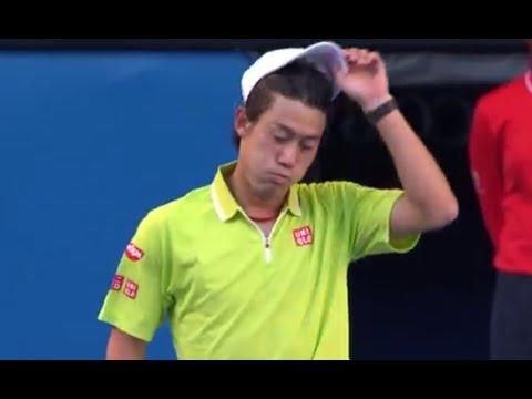 【錦織圭】2015全豪オープン 4回戦 VS ダビド フェレール 6-3、6-3、6-3のキャプチャー