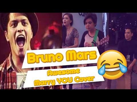 Filipino Street Performer Sings Bruno Mars Marry You