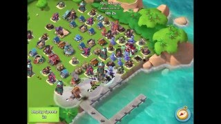Boom Beach — kenetic attacking sumeru*123, Predator 陌风 (2 times), yoyo; HZ, boosted ice bases