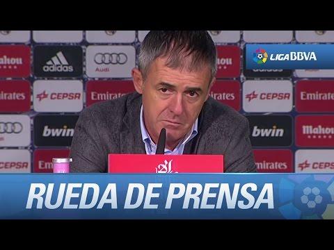 Rueda de prensa de Lucas Alcaraz tras el Real Madrid (3-0) Levante UD