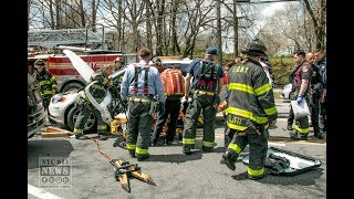 FDNY Extricates Man Trapped in Car