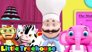 маффин человек | детские песни | потешки | Little Treehouse Russia | развивающий мультфильм