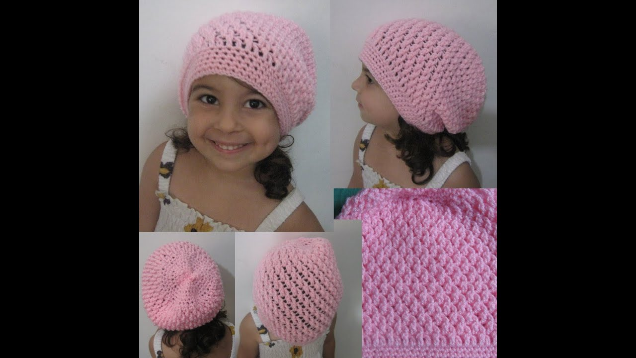 Crochet Patterns Hats For Toddlers : Crochet Hat - Squiggly Slouch Hat Tutorial (Toddler to ...