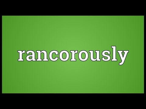 Header of rancorously