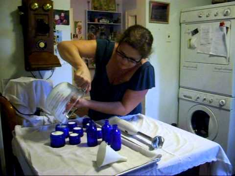 Handmade face cream using all natural and organic ingredients creme/cream.lotion.  video part 3