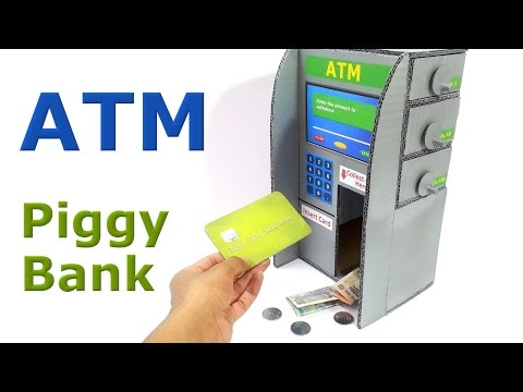 How to make ATM Piggy Bank for Kids