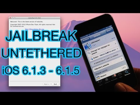 Jailbreak Untethered de l'iOS 6.1.3 et 6.1.5 pour iPhone 3GS. iPhone 4 et iPod touch 4G !