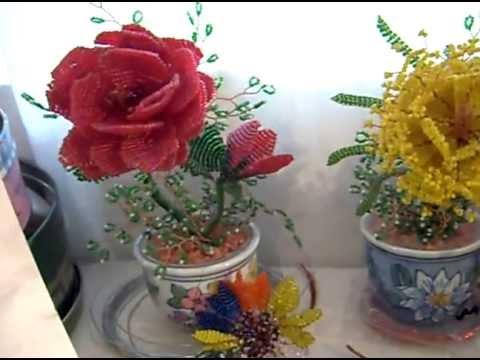 Un recorrido por flores de chaquira youtube for Adornos con plantas de nochebuena