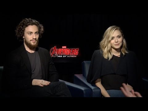 Aaron Taylor-Johnson & Elizabeth Olsen on Marvel's Avengers: Age of Ultron